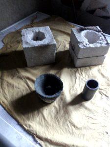 мини печка для плавки на газу