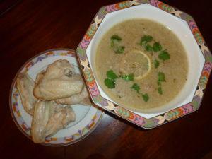 суп и мясо отдельно